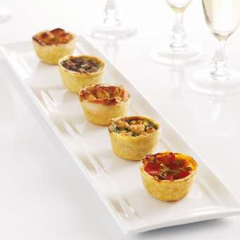Agregar Mini Quiches Vegetarianos 25 un Congelados al carro
